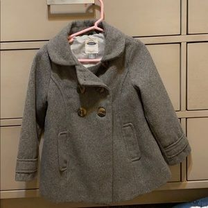 Grey wool jacket size 4T